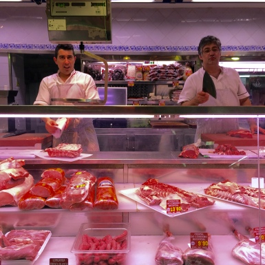 The butchers at Carnes Ismael